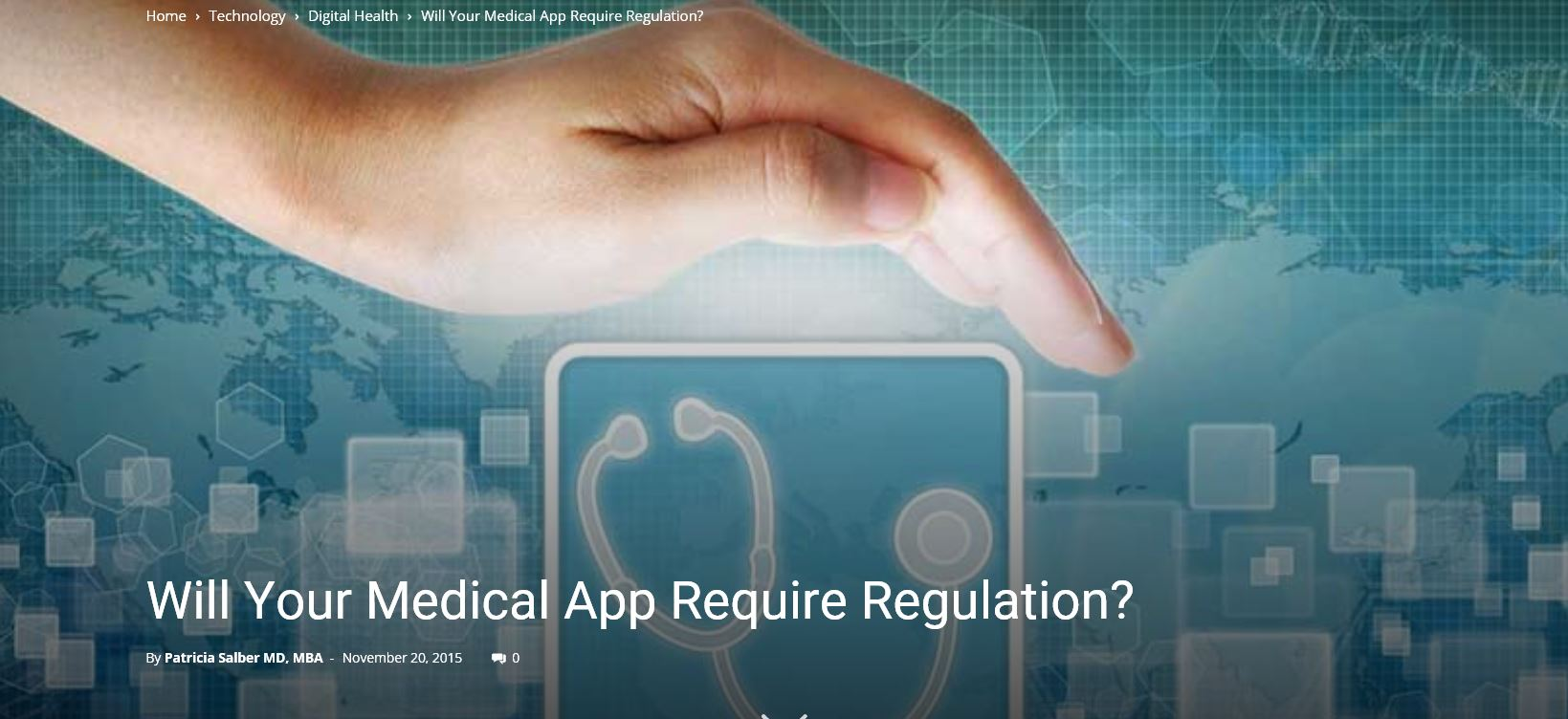 Mobile Medical App Regulation