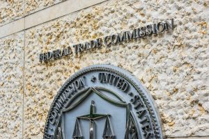 Federal Trade Commission seal sign and logo in downtown