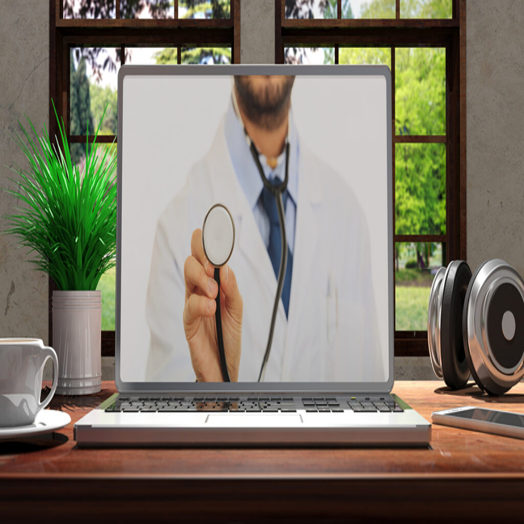 Laptop With Telemedicine Doctor
