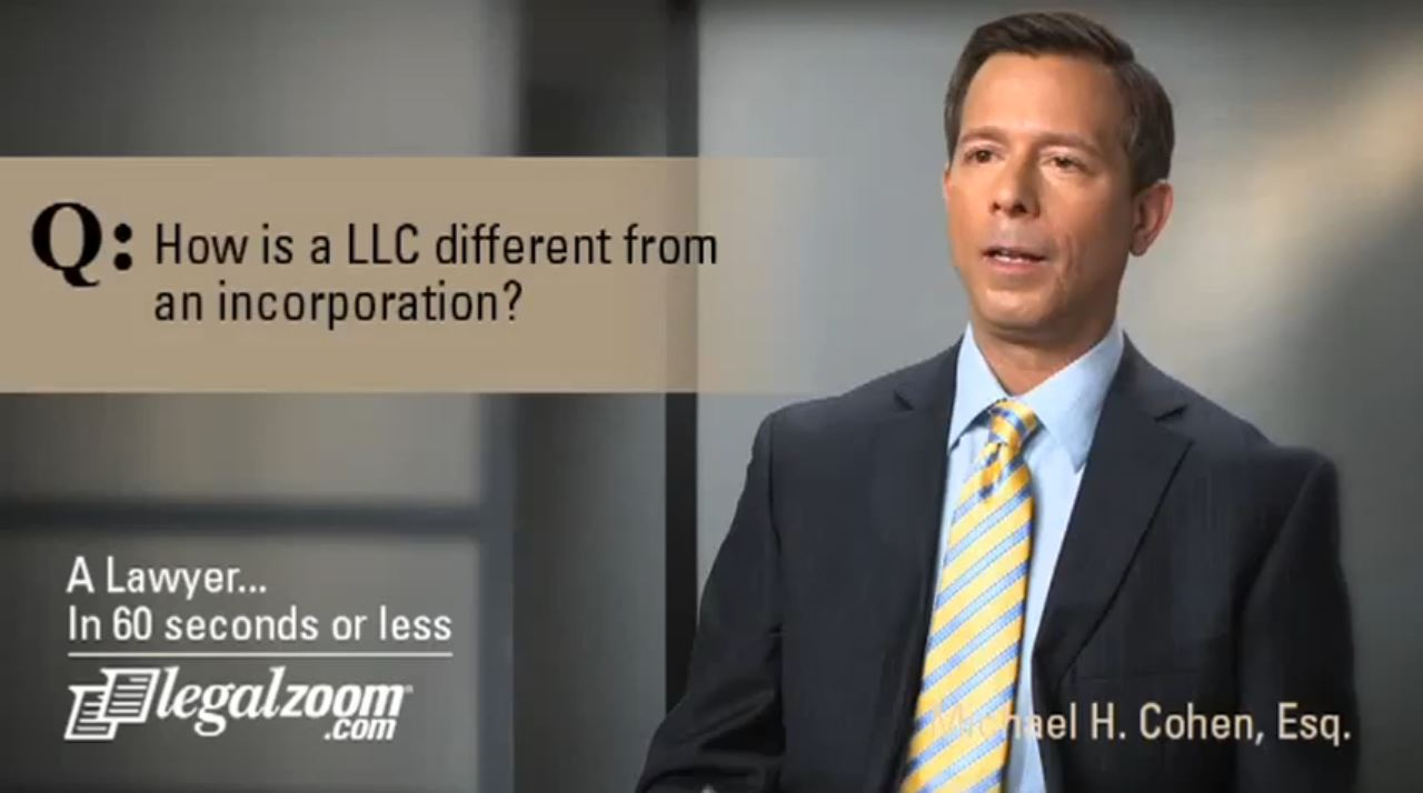 How is a LLC different from an incorporation?