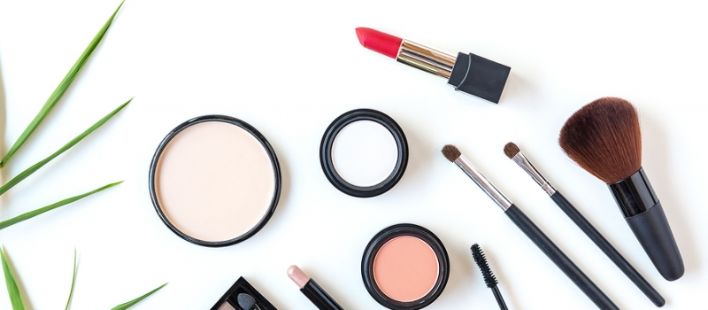 Makeup Cosmetics Tools Background And Beauty Cosmetics, Products